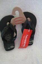 Havaianas Boy Rubber Sandals Flip-Flops Size 10C Toddler Black Green New