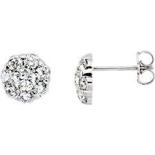 diamante a grappolo ORECCHINI IN 14k oro bianco (2.00 ct. TW