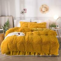 Solid Color Luxury Plush Shaggy Bedding Set Twin Queen King size Duvet Cover