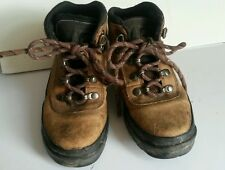 Timberland Hiking Outdoor BOOTS Brown Leather Shoes Hook & Eye Youth Boys 13M