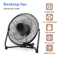 8 Inch USB Powered Portable Table Fan Mini USB Desk Fan Personal Cooler New