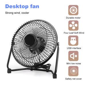 8/6/4 Inch USB Powered Portable Table Fan Mini USB Desk Fan Personal Cooler New