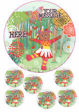 "NIGHT GARDEN/UPSY DAISY PERSONALISED CAKE TOPPER A4 ICING 7.5"" ROUND&TOPPERS"