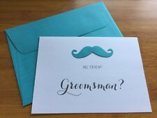 Will You Be My Groomsman Card & Envelope Wedding Invitation Cards Bridal Party