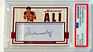 Muhammad Ali Boxing Champion Signed Custom Cut Auto CARD 1/1 PSA/DNA Slabbed