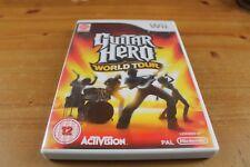 Nintendo Wii ... Game ... Guitar Hero .... World Tour