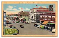 Broad Street at Courthouse, Globe, AZ Postcard *5D