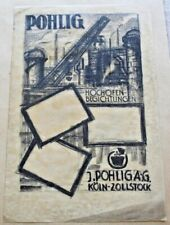 Dessin Eugen Karbach (1900- ) Crayon calque Pohlig Köln Zollstock env 1930