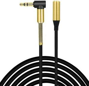 Audio Aux Cable 3.5mm Jack Stereo Extension Lead For iPhone Galaxy S8 Headphone