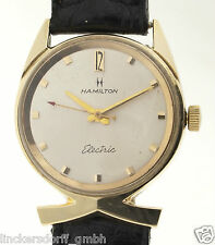 HAMILTON ELECTRIC IN MASSIV 14ct GOLD - SELTENE ARMBANDUHR - 1950er/1960er JAHRE