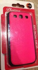 New samsung galaxy s3 Semi Hard phone case Cover Hot Pink Black