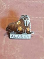 Vintage Alaska Walrus Lapel Pin Badge ~ Ships FREE