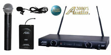 Audio 2000's AWM-6012UL Handheld Lavalier Wireless Mic