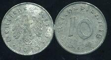 WW2  ALLEMAGNE 10 reichspfennig  1943 A   ( bis )
