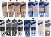 6 Pairs Men's Bio Fresh Multi Coloured Work Office Cotton Rich Adults Socks 6-11