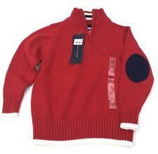 Tommy Hilfiger Little Boy's Kacey Half Zip Sweater Sz 2T BULLS Eye  By/7