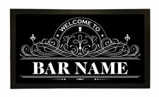More details for personalised welcome lager beer label bar runner pub club cafe cocktail mat