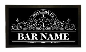 Personalised Welcome Lager Beer Label Bar Runner Pub Club Cafe Cocktail Mat