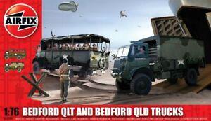 AIRFIX 1:76 Scale WWII British Bedford QLT & QLD Trucks MODEL KIT - A03306