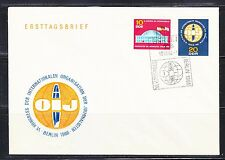 Germany DDR 1966 FDC cover Mi 1212-1213 Sc 857-858 Organization of Journalists