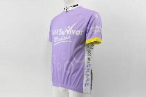 Verge V-Gear Men's Team Survivor Madison Short Sleeve Cycling Jersey Lilac S NOS