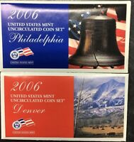 2006 U.S. Mint Uncirculated Coin Set in UNOPENED (U06) Mint Box - P&D 20 Coins