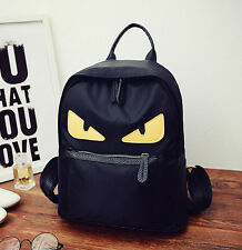 men&women canvas Monsters-Little Devil eyes shoulder bag backpack schoolbags