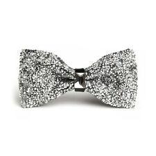 Men Adjustable Strentch Tie Glitter Rhinestone Bowtie Sparkle Tuxedo Bow Tie Hot