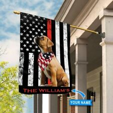 [Custom name] Boxer Firefighter Polyester Flag Outdoor Indoor Banner