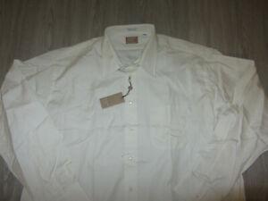 NWT Gitman Gold Master Shirt Makers TTX Pinpoint Dress Shirt 18 36 Ivory USA