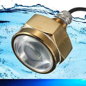 Underwater Boat / Fishing LED Drain Plug Light 27W Blue - Extremely Bright Light