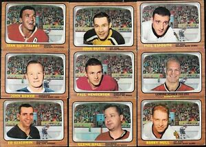 1966-67 TOPPS 66-67 NHL HOCKEY CARD 1-132 SEE LIST