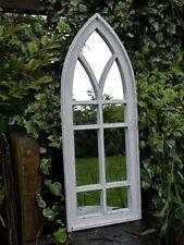 NUOVO GOTICA CHIESA Arch Wood Window GRANDE GIARDINO Wall Art Decorativo Specchio 110 cm