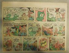 Pogo Sunday by Walt Kelly from 6/23/1957 Half Page Size!