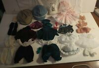 Doll Clothes Lot Craft Fashion Accessories Various Sizes Colors 25+ Pieces