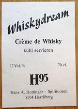 Etiquettes vin GERMANY creme de whisky H 95 Hans A. Hottinger  wine labels