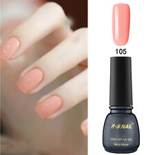 RS 105 Gel Nail Polish UV LED Soak-off Shiny Orange Pink 5ML Summer Nail Salon