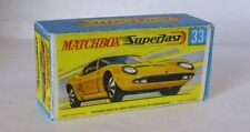 Repro Box Matchbox Superfast Nr.33 Lamborghini Miura P 400