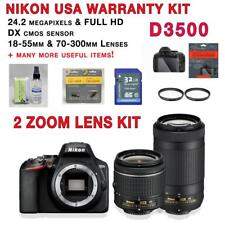 NEW Nikon D3500 Kit w/AF-P 18-55mm VR & AF-P 70-300mm zoom lenses + MORE!