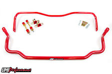 Umi Performance 64-72 Gm A-Body Solid Front & Rear Sway Bar Kit Red Chevy