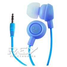Auriculares FRUIT SMILES para  iPhone 5 3,5mm Frutas Sonrisas  AZUL  s24