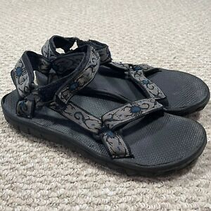 Teva Mens Sport Sandals Strappy Hiking Outdoors Scorpions Black Gray Size 10