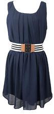 A. BYER Womens Sleeveless Belted Navy Blue Dress Sz.( XL)