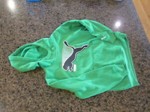 Puma boys girls green S Hoodie Youth long sleeve pull over warm up jacket track