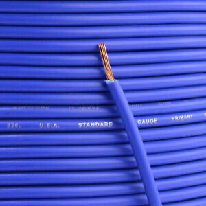 100' Ft Section 18 Gauge Remote Wire Blue CCA AWG Power Primary Flexible Cable
