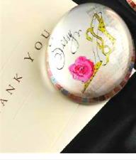 "JOYCE SHELTON GLASS PAPERWEIGHT- ""SASSY"" DESIGN"