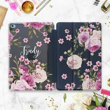 Personalized iPad Air 2 3 2019 Smart Cover Flowers iPad 6 Pro 9.7 12.9 2018 Case