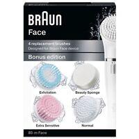 Braun Silk-épil Visage 80-M Bonus Édition - Lot de 4 Pièce Rechange Brosses