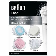 Braun Silk-Epil Face 80-M Bonus Edition - 4 Pack Replacement Brushes Refill SE80