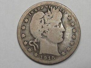 G/VG Better-Date 1915-s US Barber Quarter. #17